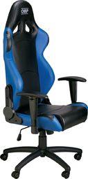 OMP Racing Fotel biurowy OMP MY16 czarno/niebieski uniwersalny