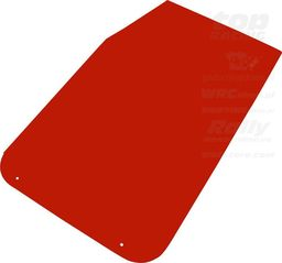 OMP Racing Fartuchy przeciwbłotne OMP czerwone (50x30cm) uniwersalny