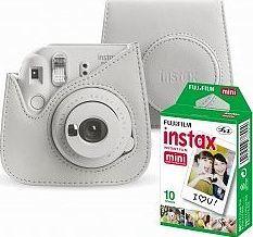 Aparat cyfrowy Fujifilm Fujifilm Instax Mini 9 biały + etui i wkład 1pack