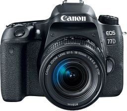 Lustrzanka Canon EOS 77D + 18-55mm