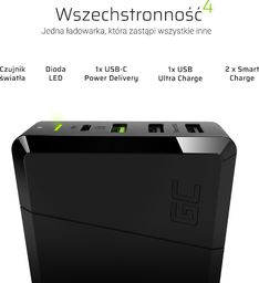Ładowarka Green Cell Power Source 75W 3x USB 1x USB-C Ultra Charge Power Delivery