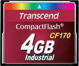 Karta pamięci Transcend Compact Flash 4GB (TS4GCF170)