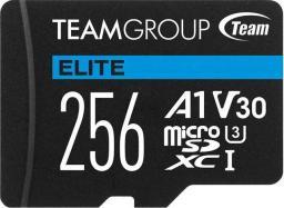 Karta Team Group Elite MicroSDXC 256 GB Class 10 UHS-I/U3 A1 V30 (TEAUSDX256GIV30A103)