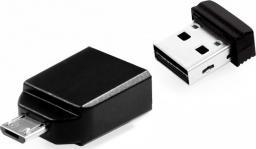 Pendrive Verbatim Flash USB 2.0 64GB Nano+ OTG Adapter (49329)