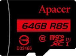 Karta Apacer Secure Digital MicroSDXC 64 GB Class 10 UHS-I/U1  (AP64GMCSX10U5-R)