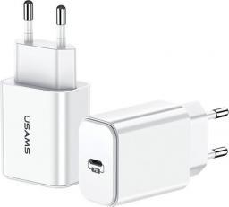 Ładowarka Usams 1xUSB-C Fast Charging biała-CC69TC01