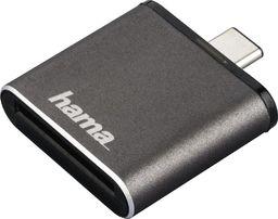Czytnik Hama Czytnik kart SD UHS-II USB 3.1 TYP-C OTG SD szary-124186