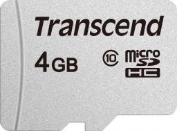 Karta MicroSD Transcend microSDHC 300S 4GB CL10 (TS4GUSD300S)