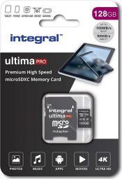 Karta Integral Premium MicroSDXC 128 GB Class 10 UHS-I/U3 A1 V30 (INMSDX128G-100/90V30)