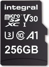 Karta Integral MicroSDXC 256GB 90V30, R:100MB/s W:70MB/s U3 V30 + ADAPTER