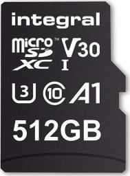 Karta Integral Ultima Pro MicroSDXC 512 GB Class 10 UHS-I/U3 A1 V30 (INMSDX512G-100/80V30)