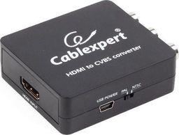System przekazu sygnału AV Energenie Gembird konwerter HDMI -> CVBS (Composite Video) + stereo audio