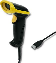 Qoltec Laserowy czytnik kodów kreskowych 1D | USB