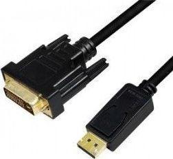 Kabel LogiLink DisplayPort - DVI-D 5m czarny (CV0133)