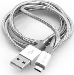 Kabel USB Verbatim micro USB-B(M) - USB-A(M) 1m srebrny