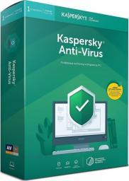 Kaspersky Lab Anti-Virus 2019 Polish Edition 1-Desktop 1 year + METAL POSTER