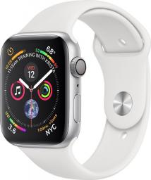 Smartwatch Apple Watch Series 4 GPS Silver Alu Biały