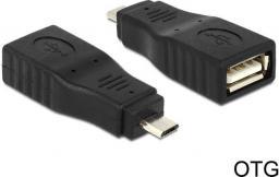 Adapter USB Delock USB A - micro USB B Czarny (65549)