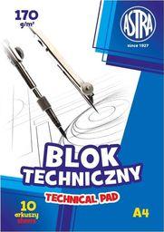 Blok biurowy Astra Blok techniczny A4/10K 170g (10szt) ASTRA