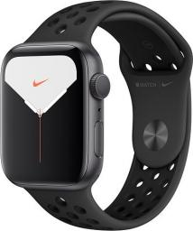 Smartwatch Apple Watch Nike Series 5 GPS+Cellular 44mm Grey Alu Czarny  (MX3F2FD/A)