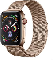 Smartwatch Apple Watch Series 4 GPS+Cellular Gold Steel Złoty  (MTX52FD/A)