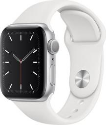 Smartwatch Apple Watch 5 GPS 40mm Silver Alu Biały  (MWV62FD/A)
