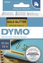 Dymo Dymo D1 Label  12 mm x 3 m black to gold