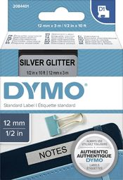 Dymo Dymo D1 Label   12 mm x 3 m black to silver