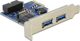 Kontroler Delock PCIe 2.0 x1 - 2x USB 3.0 + 19-pin USB 3.0 (89315)