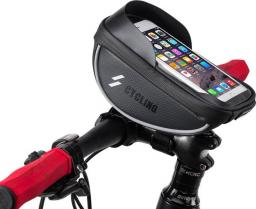 Alogy Etui torba sakwa uchwyt na rower pokrowiec do telefonu 6 czarny uniwersalny