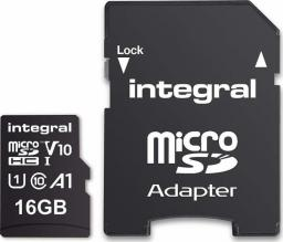 Karta Integral MicroSDHC 16GB + ADAPTER (INMSDH16G-100V10)