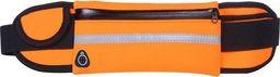 Hurtel Pas do biegania saszetka nerka na bidon etui na telefon z wyjściem na słuchawki pomarańczowy