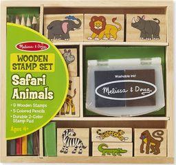 Melissa & Doug MELISSA Pieczątki drewniane zwierzątka Safari 18786