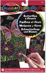 Melissa & Doug MELISSA Zdrapywanka Motyle i kwiaty 15956