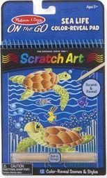 Melissa & Doug MELISSA Zdrapywanka Tęczowe karteczki Scratch Art Sea Life 19149
