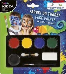 Derform Farbki do malowannia twarzy 3,4g x 6 kolorów KIDEA DERFORM