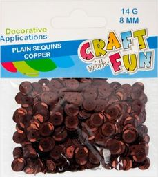 Craft with Fun CF CEKINY GLADKIE GUZIK 8MM MIEDZIANE PBH 40/400