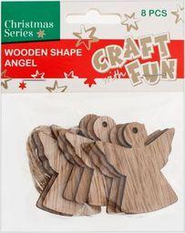 Craft with Fun CF OZDOBA BN DREW ANIOL ZAWIESZKA 8SZT PBH12/288