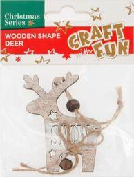 Craft with Fun CF OZDOBA BN DREW RENIFER ZAWIESZKA PBH 12/288