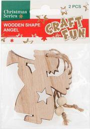 Craft with Fun CF OZDOBA BN DREW ANIOL ZAWIESZKA 2SZT 12/288