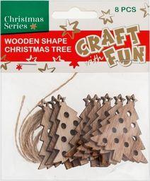 Craft with Fun CF OZDOBA BN DREW CHOINKA ZAWIE 8SZT PBH12/288
