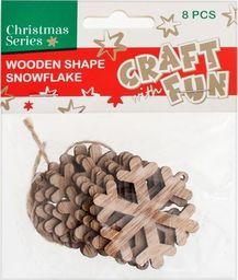 Craft with Fun CF OZDOBA BN DREW PLAT SNIEGU ZAWIE 8SZT 12/288