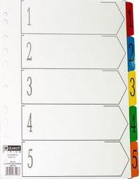 D.Rect Przekładki kartonowe A4 1-5 index laminowany