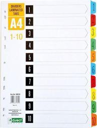 D.Rect Przekładki kartonowe A4 1-10 index laminowany