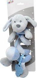 Axiom Sprężynka pluszowa New Baby Piesek niebieski 30 cm