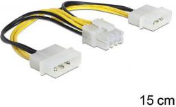 Delock kabel zasilający do płyt głównych EPS 8PIN / 2x Molex 15 cm (83410)