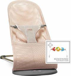 BABYBJORN  BABYBJORN - leżaczek BLISS MESH - Perłowy Różowy + Zabawka