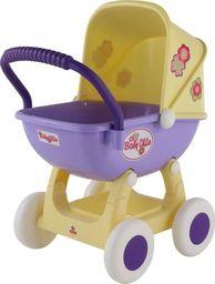 WADER Duży wózek gondola dla lalek 43cm Wader QT Arina żółto fioletowy