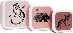 Petit Monkey Petit Monkey - Zestaw 3 śniadaniówek lunchbox Desert Rose
