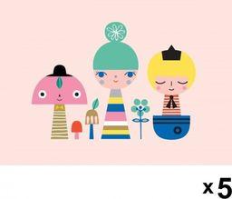 Petit Monkey Petit Monkey - Sunshine gang zaproszenia urodzinowe zestaw 5 szt.